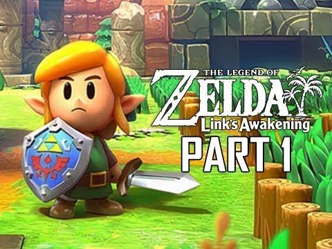 The Legend of Zelda Link's Awakening Remake Walkthrough Part 1 - Intro & First Dungeon!!! (Switch)