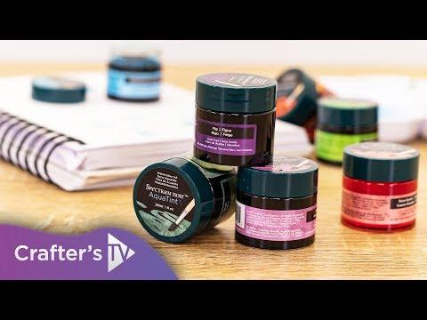 How to use the Spectrum Noir AquaTint Liquid Inks