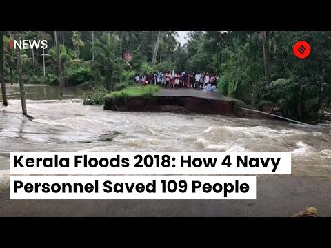 Kerala Floods 2018 | Kerala Floods 2018 News | How 4 Navy Personnel Saved 109 People thumbnail