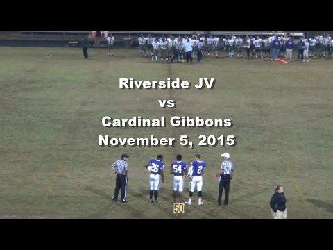 Riverside JV Football Vs Cardinal Gibbons - Nov 5, 2015