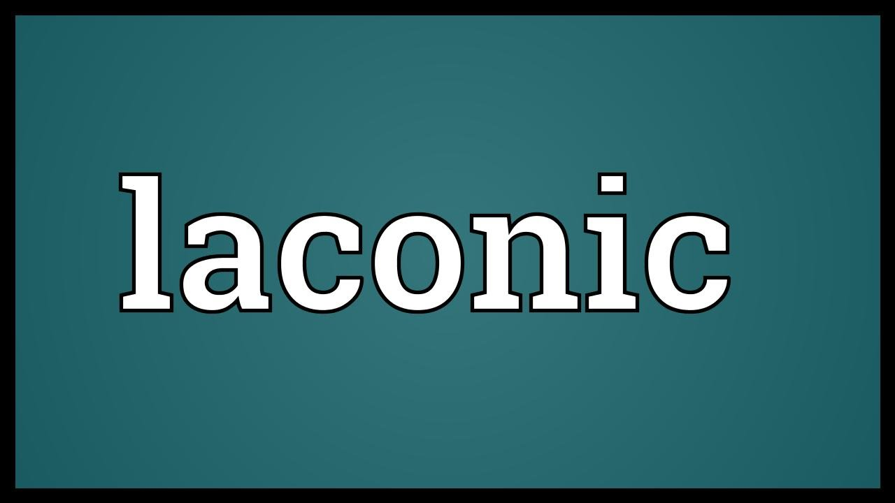 Laconic Meaning - YouTube