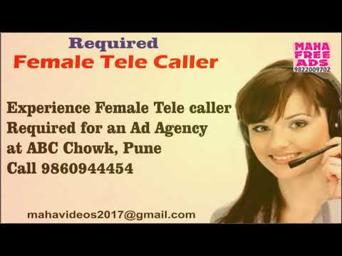 Required Female Tele caller for an Ad Agency at Pune. Maha Free ads