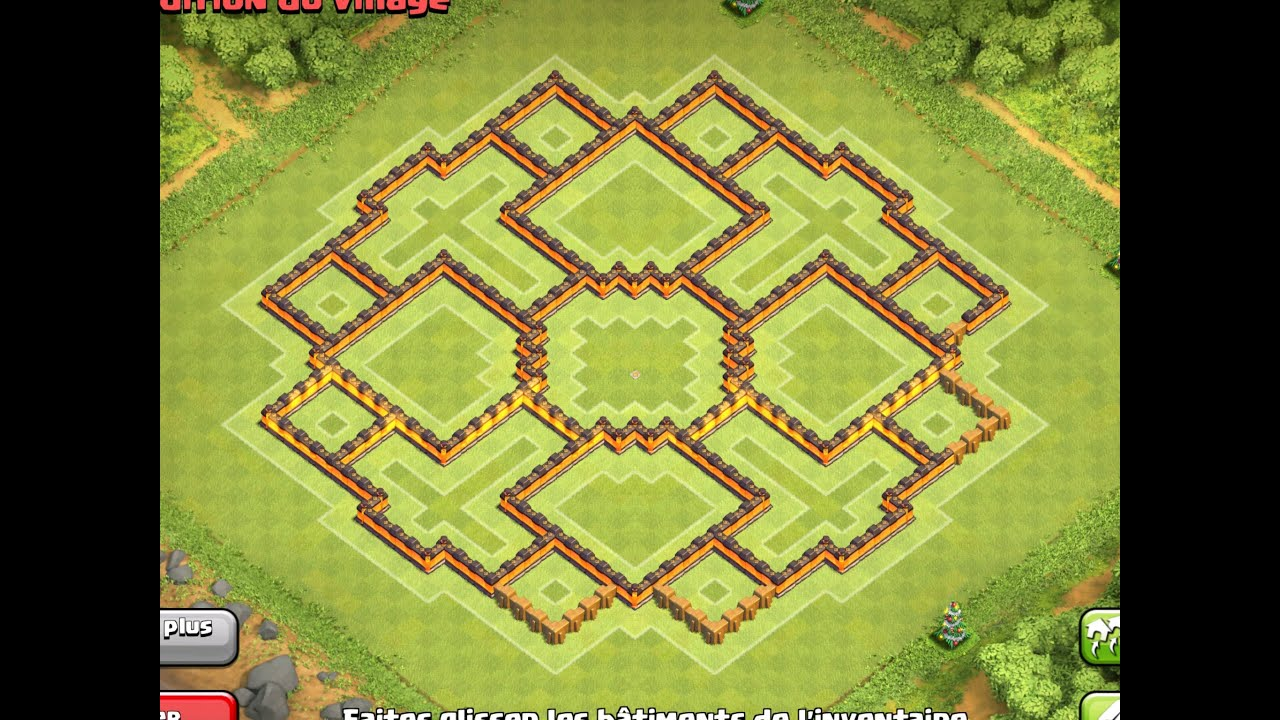 New update epic th10 farming base 275 walls clash of clans new