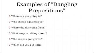 Dangling Prepositions