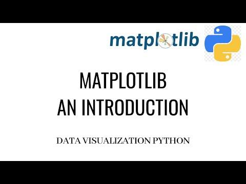 Matplotlib Introduction   Matplotlib Python Tutorial   Data Visualization