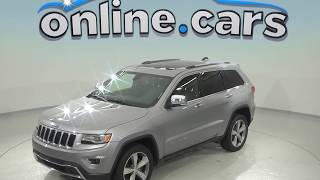 A97071GT Used 2015 Jeep Grand Cherokee Limited 4WD SUV Silver Test Drive, Review, For Sale