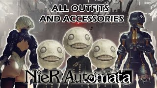 NieR: Automata - All Outfits/Accessories and how to get them!