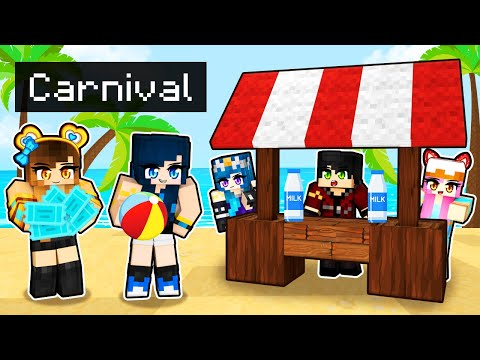 Taking my friends to a CARNIVAL in Minecraft!