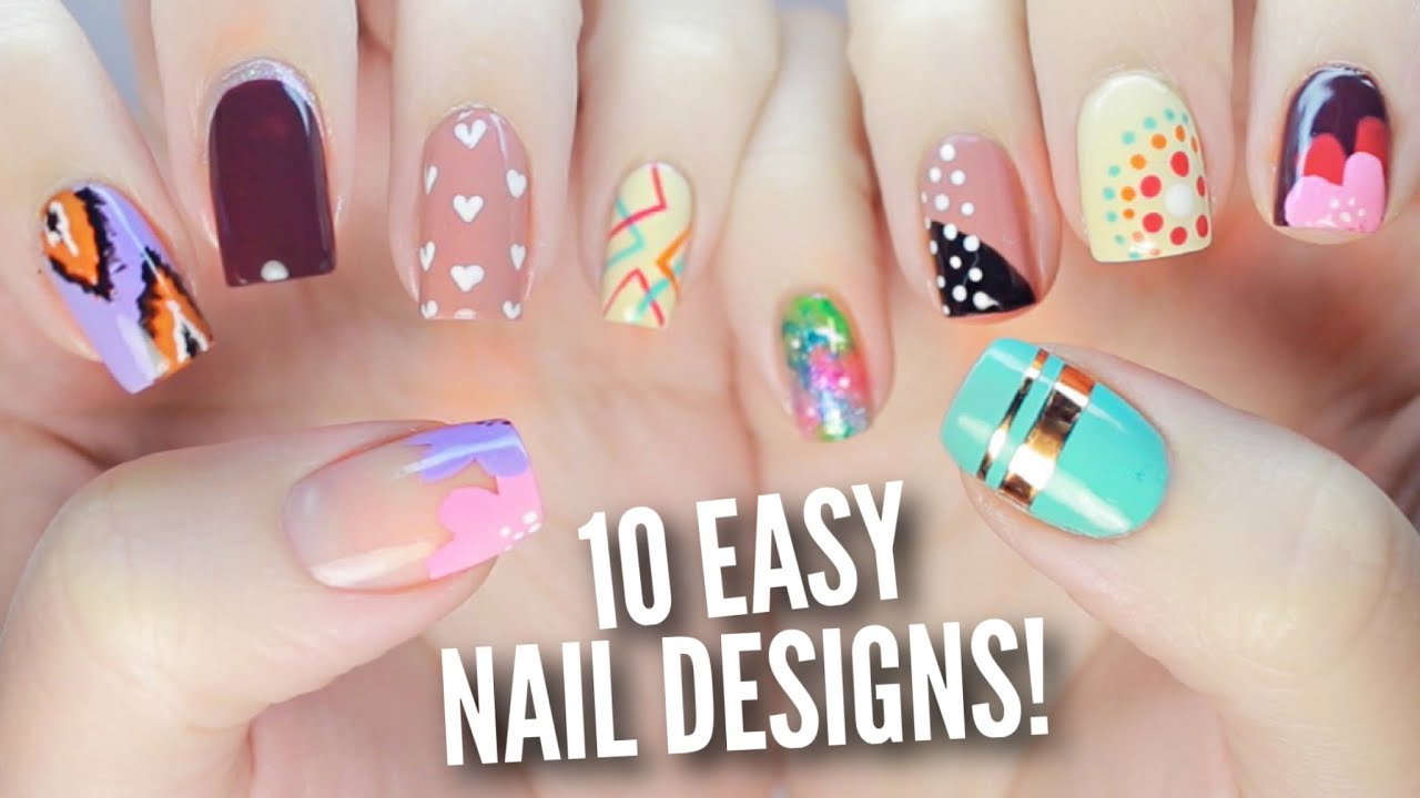 10 Easy Nail Art Designs for Beginners: The Ultimate Guide #2! - YouTube