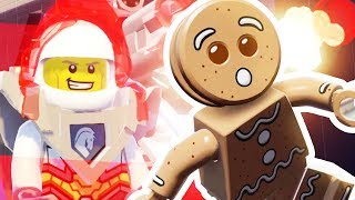 CHASING A GINGER BREAD MAN WITH NEW VEHICLE - Lego Worlds - Part 21 | Pungence