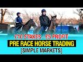 £10 Stakes - £5 profit - Pre Race Horse Trading [Simple Markets]