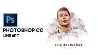 Photoshop cc Tutorial   Line art   Cristiano Ronaldo