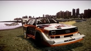 GTA IV - Clockwork Mountain Hill Climb Drift Full Lap 1982 HB Audi Team Sport Quattro S1 4x4