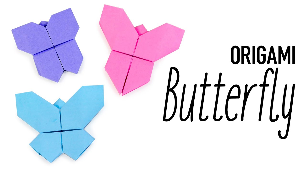 Easy Origami Butterfly - YouTube | 720x1280