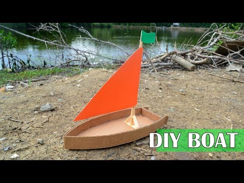 How to build a small cardboard boat