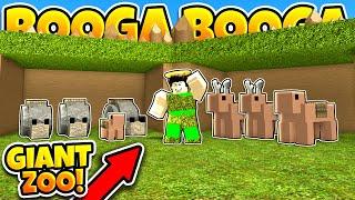BUILDING A GIANT ZOO! (Roblox Booga Booga)