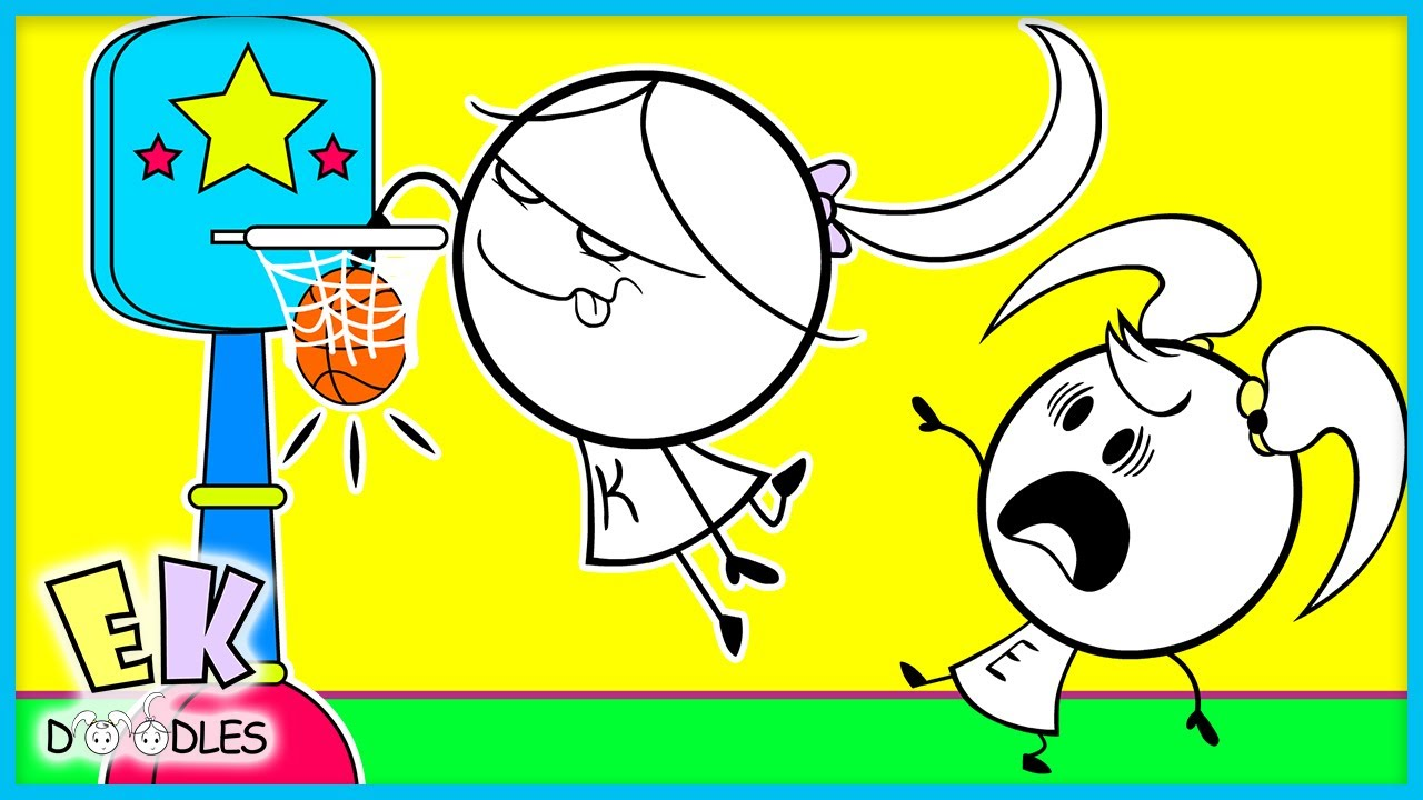 Tea Party Vs Basketball! EK Doodles Family Fun Basketball Battle!