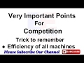 Efficiency of All Machines & Important Points for competition || Electrical Engg In Hindi ||