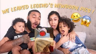 REACTING TO LEGEND'S NEVER BEFORE SEEN NEWBORN PHOTOS!!!