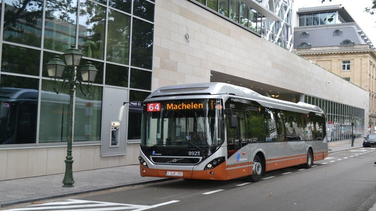 Stib/Mivb Bruxelles | Volvo 7900 Hybride | Ligne 64/Lijn 64 - YouTube