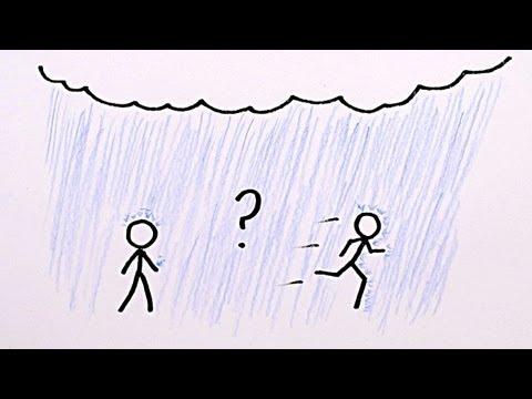 Đi bộ hay chạy trong mưa thì tốt hơn