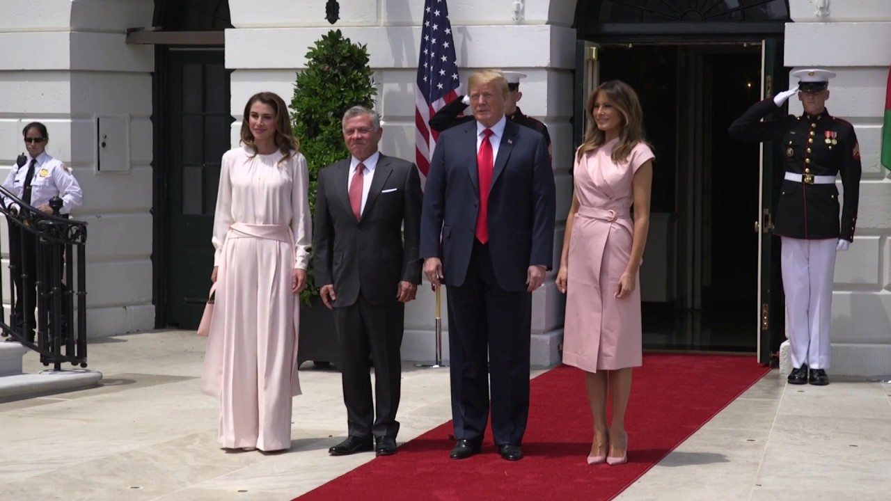 Hasil gambar untuk President and the First Lady Welcome the King and Queen of the Hashemite Kingdom of Jordan