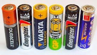 Aa Alkaline Battery Capacity Test Duracell Gp Varta Energizer Youtube
