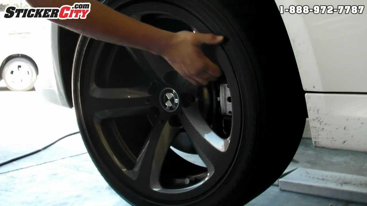 Bmw Wheel 3m Di Noc Carbon Fiber Wrap Youtube