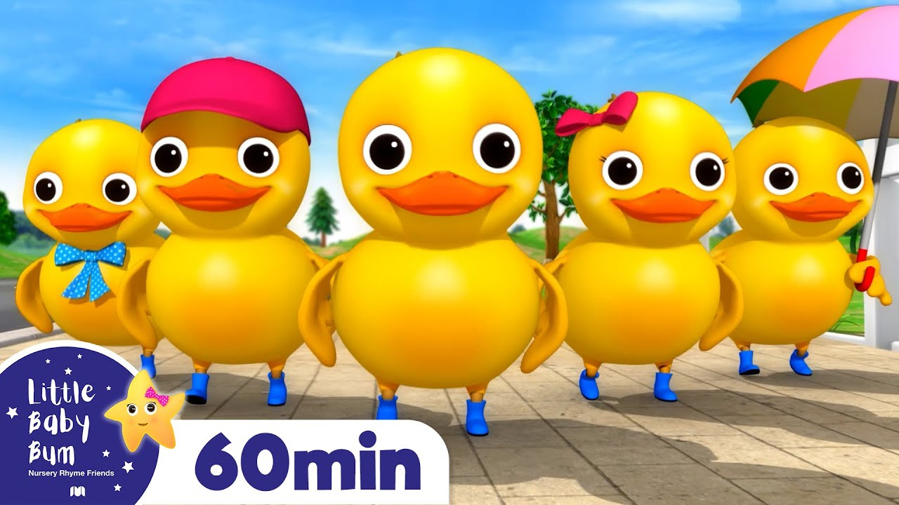 5 Little Ducks On A Bus! +More Nursery Rhymes and Kids Songs | Little Baby Bum