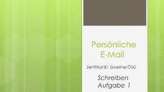 Prüfungsvorbereitung Zertifikat B1 - Email schreiben