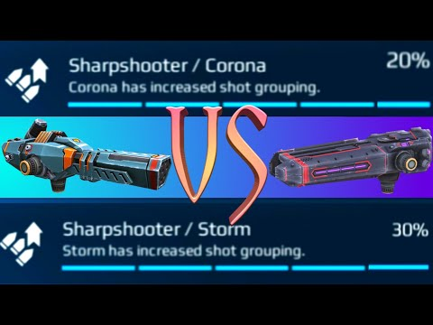 Storm With Shot Grouping vs Corona With Shot Grouping Detailed Damage Test - WAR ROBOTS🍏