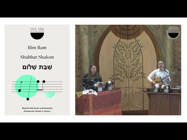 The Ark Synagogue - Tots' Shabbat 20 February 2021