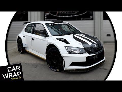 11 Degrees' Skoda Fabia R5 Rally Car Wrapped Satin Black