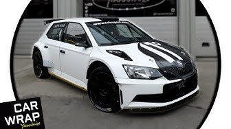 11 Degrees' Skoda Fabia R5 Rally Car wrapped Satin Black