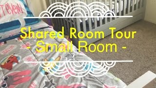 Toddler & Baby Shared Room Tour! || Small Room