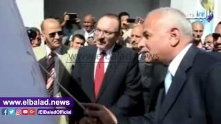 محافظ بني سويف ورئيس القابضة للمياه يفتتحان تطوير محطة كوم إدريجة .. فيديو وصور
