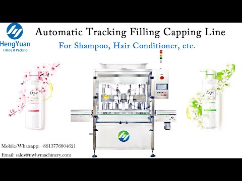 Automatic Shampoo Tracking Filling Capping Line   Liquid Filling And Bottle Sealer Packing Equipment