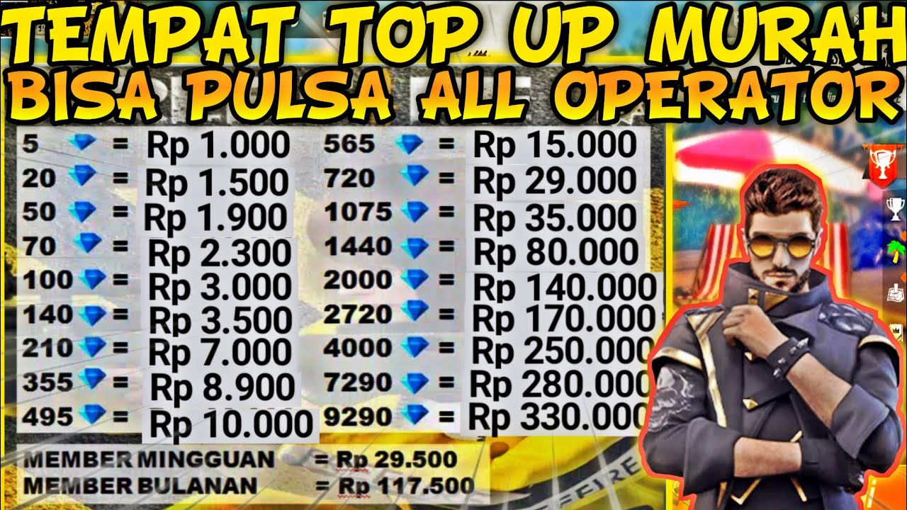 ORIGINAL SO CHEAP‼ ️ THIS IS THE MOST CHEAPEST DIAMOND TOPUP PLACE TO USE PULSE     FREE FIRE INDONESIA - YouTube