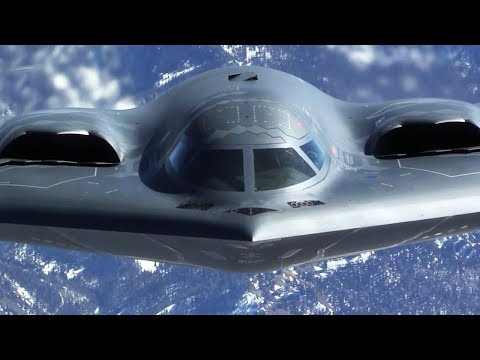 B-2 Spirit Stealth Strategic Bomber in Action