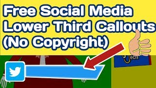Copyright Free Green Screen Effects | Social Media Lower Thirds For Youtube | Lower Third Templates