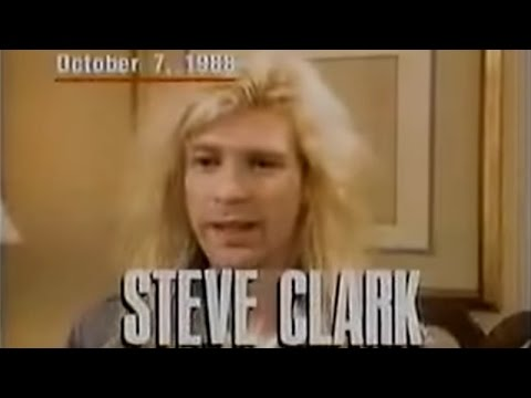 Steve Clark Dies News Report 1991
