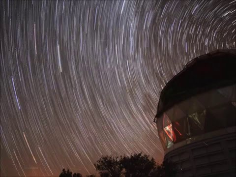 Hobby-Eberly Telescope After Dark