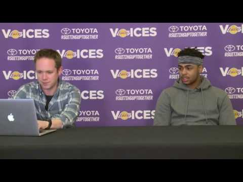 Lakers Voices: D'Angelo Russell Interview (2/13/17)