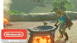 The Legend of Zelda: Breath of the Wild - Hunting and Gathering Gameplay - Nintendo E3 2016