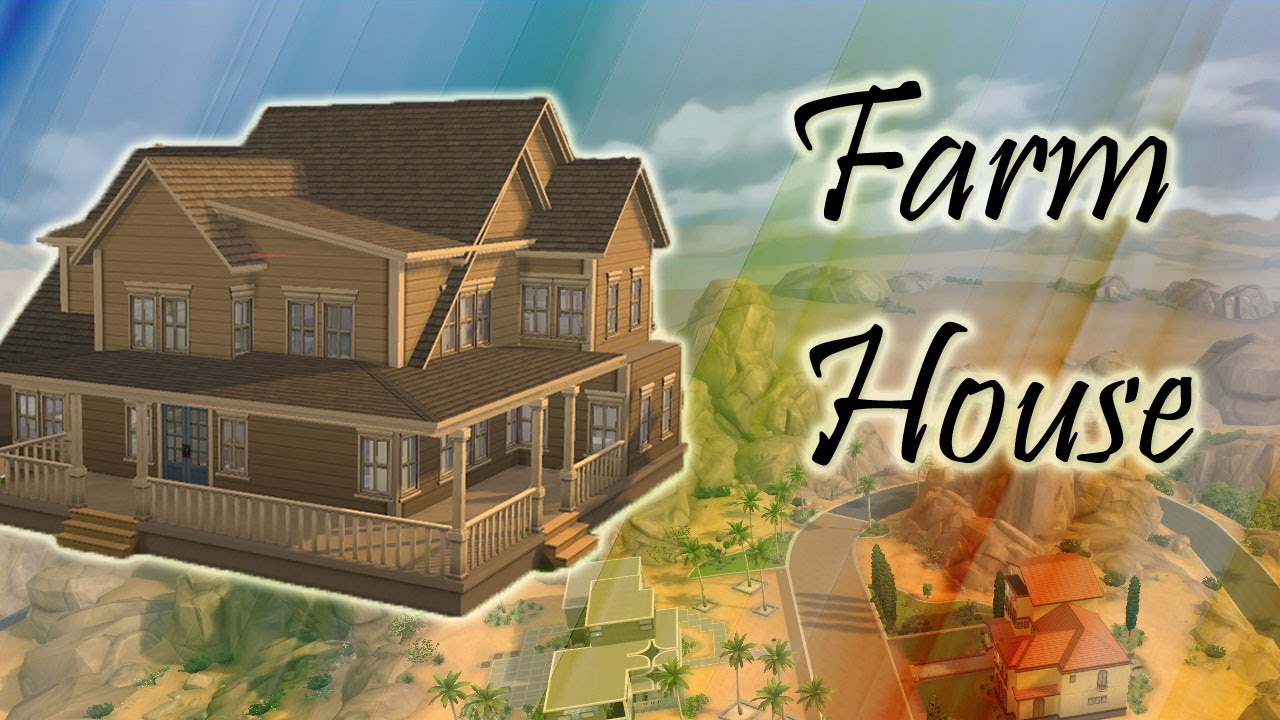 The Sims 4 Farmhouse Speed Build Youtube