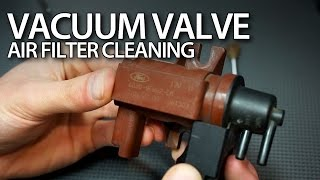 How to clean vacuum valve air filter in 1.6 & 2.0D TDCi, HDi engines (Volvo Ford Citroen Peugeot)