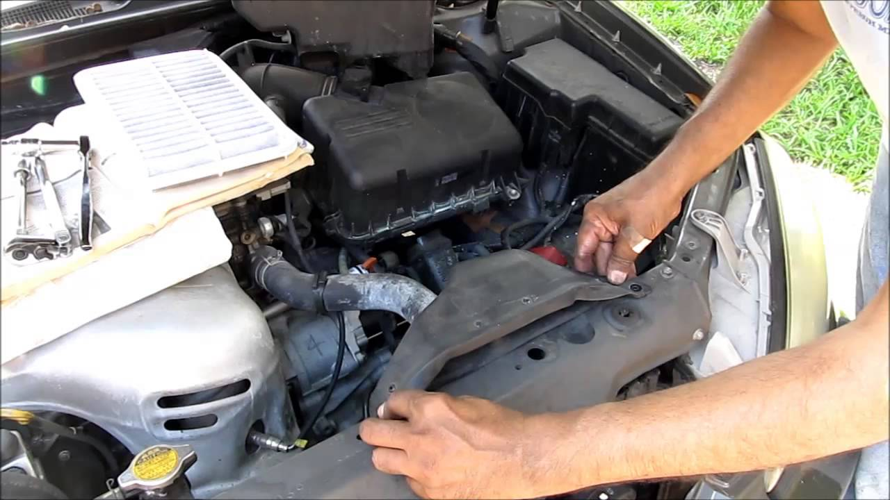 toyota camry starter replacement 2003 xle 4 cylinder engine youtube. Black Bedroom Furniture Sets. Home Design Ideas