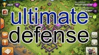 Clash of clans nearly maxed out town hall 8 defense!