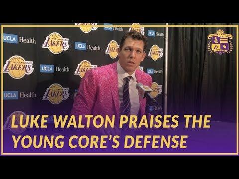 Lakers Post Game: Luke Walton Praises Lonzo, Kuzma, & Ingram's Defensive Intensity