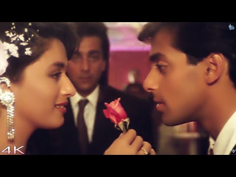 Bahut Pyar Karte Hain (Male) -  Saajan(1991)   Salman Khan, Madhuri Dixit   Full 4K 60fps Video Song